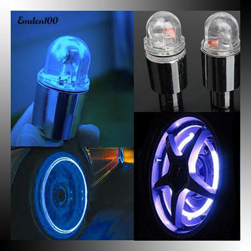 Motor Cycling Bike Bicycle Car Tyre Tire Valve LED Lights Bulbs Battery Include