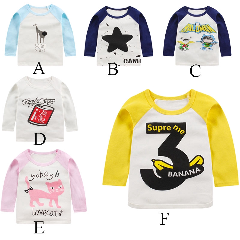 Toddler Kids Baby Girl Cotton Long Sleeve Letter Print T-Shirt Tees Tops Clothes