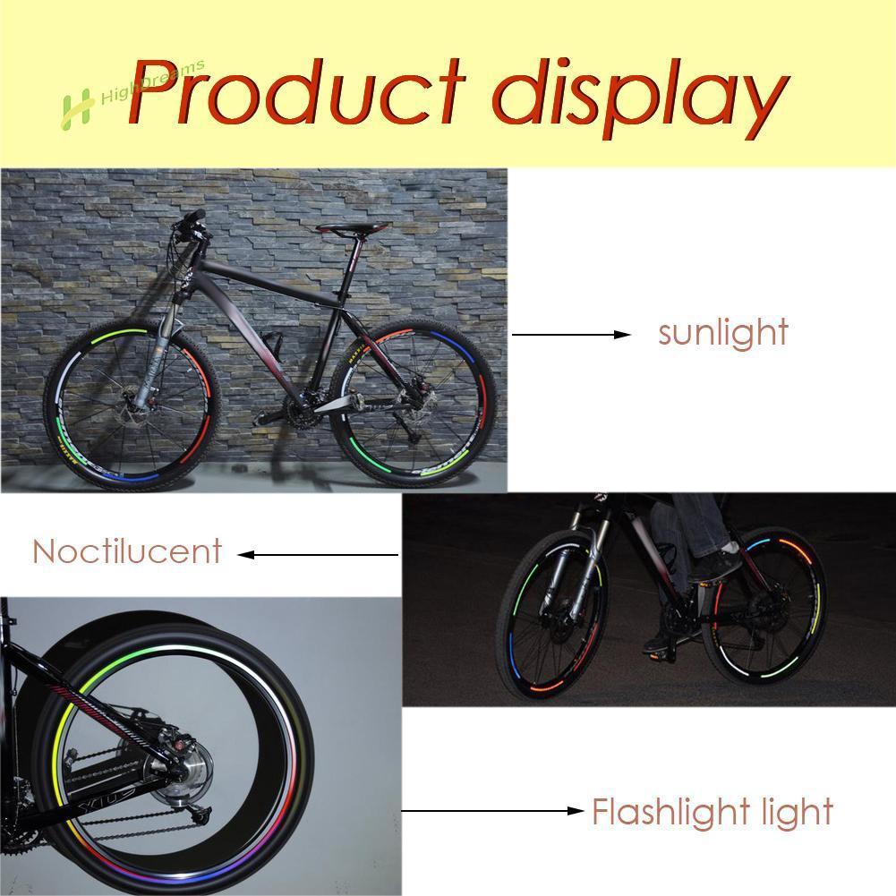 Reflective Stickers Bicycle Tire Wheel Fluorescent Reflective Bike Rim TI0S