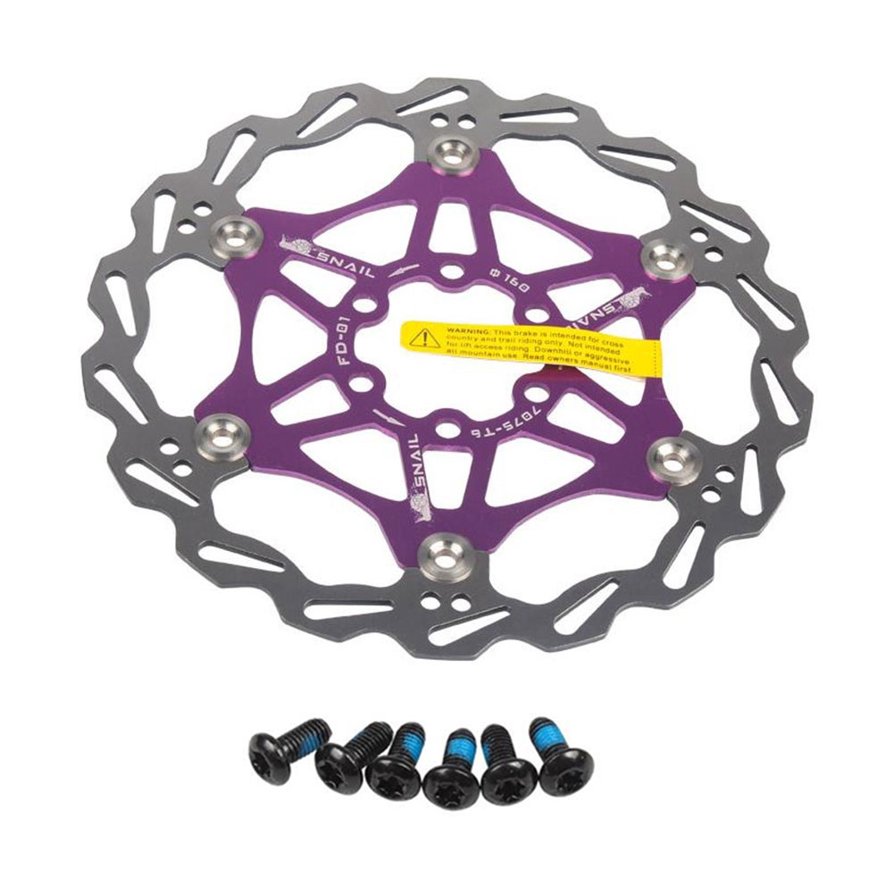 Bicycle Floating Rotor Disc 160mm Ultralight MTB Bike Rotors 6 Nail Rotor Disc