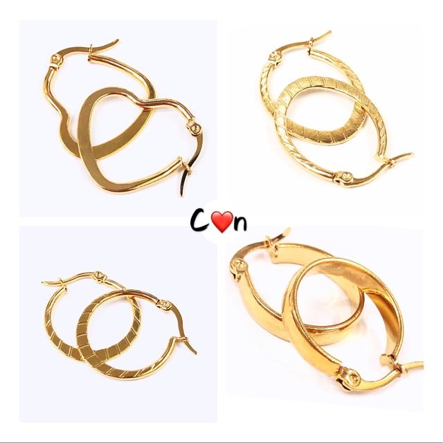 Shapes & Geometric Loop Earrings Gold Women's Accessories