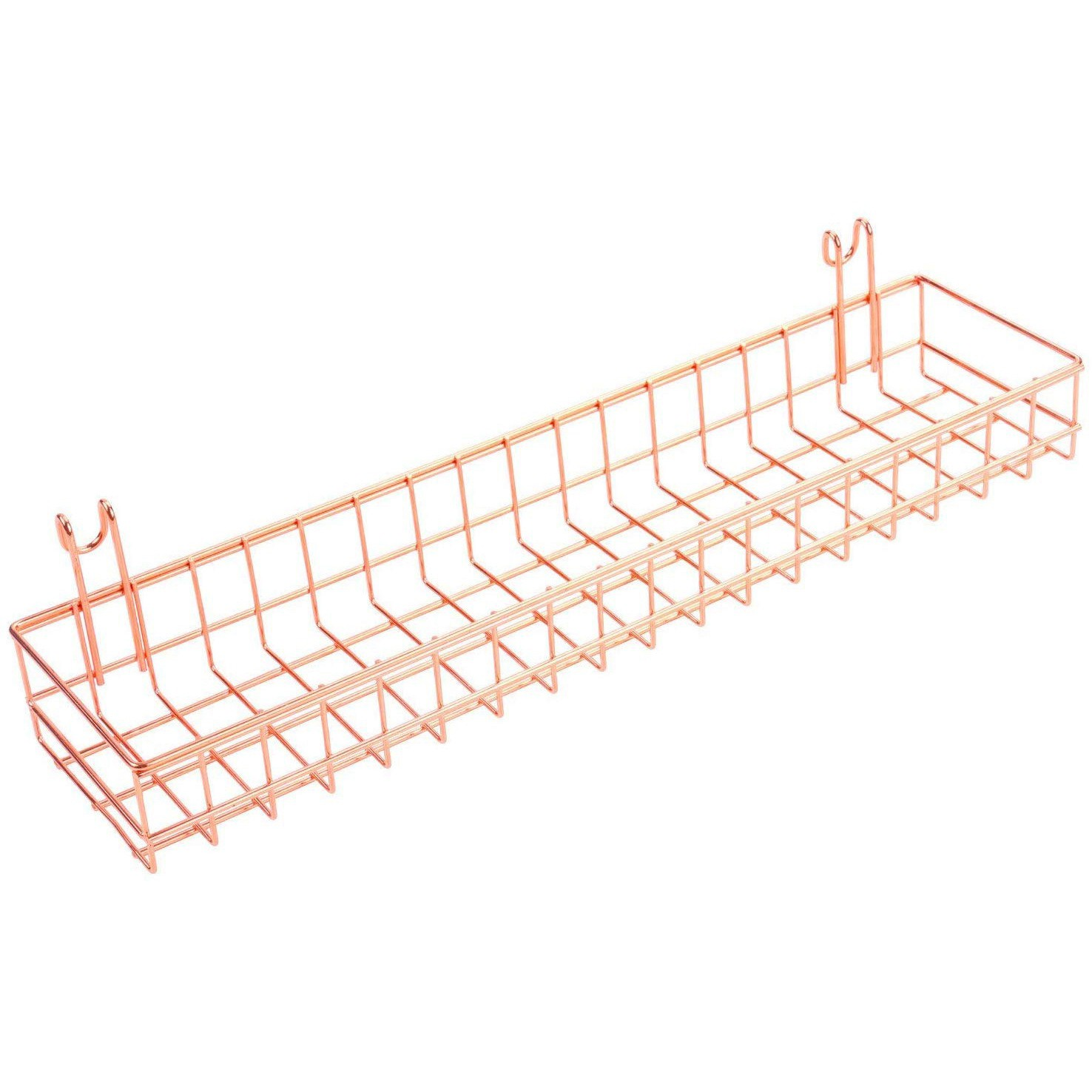 Room Decor Rose Gold Grid Wall Basket Wire Wall Shelf For Wall Storage Display Shopee Philippines