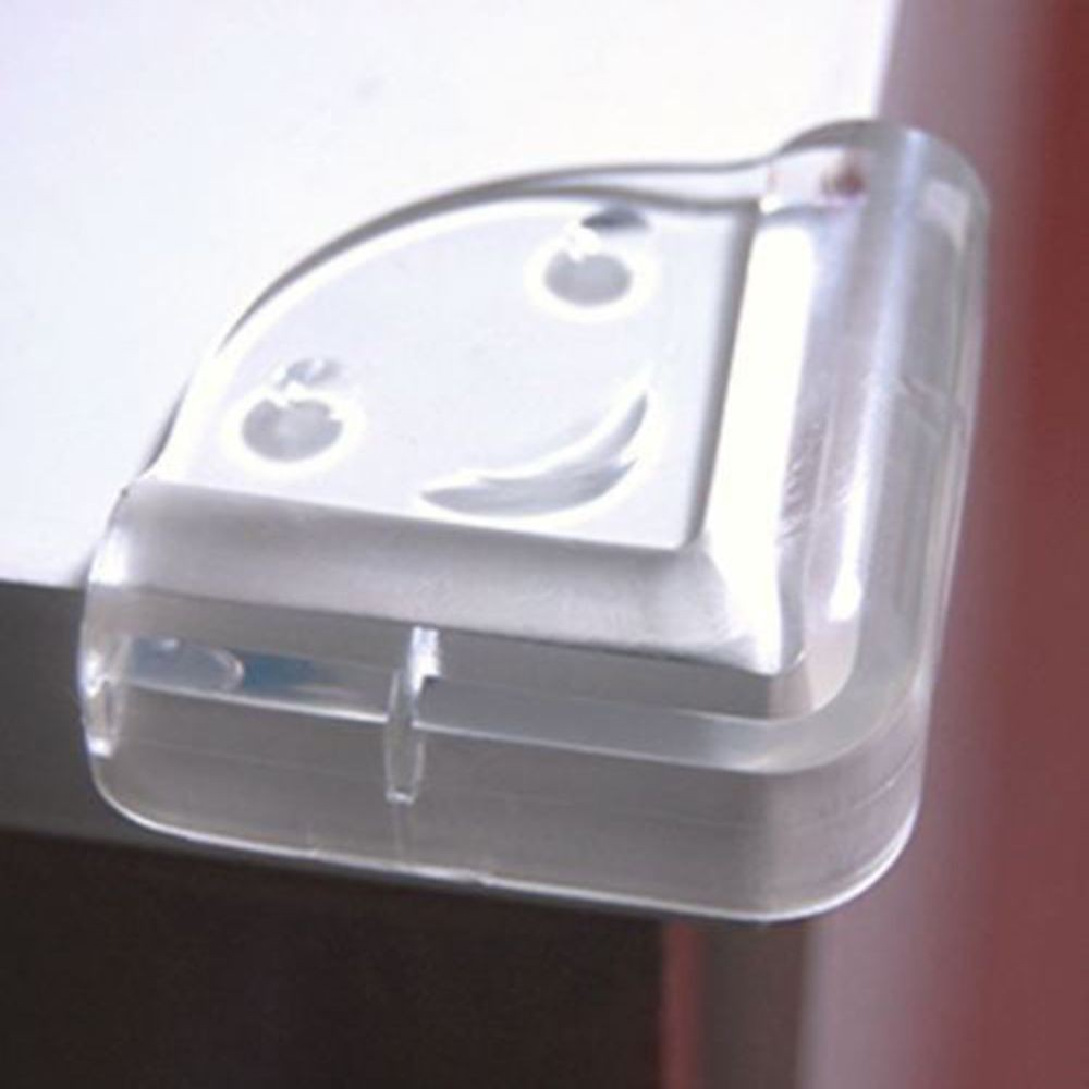 Table Desk Edge Guard Protector Rubber Corner Cushion Pad Clear 30pcs