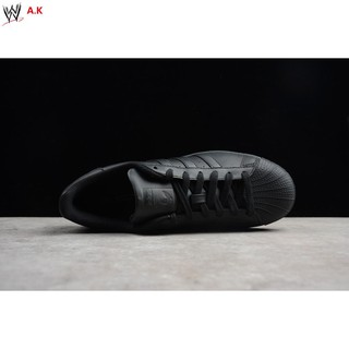 Adidas Superstar Junior All Black Sneakers Available