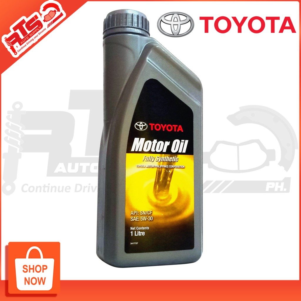 TOYOTA Genuine Fully Synthetic Engine Oil 5w-30 API SN/CF