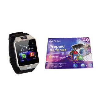Smart Watch Dz 09 With Free Globe Lte Sim Shopee Philippines