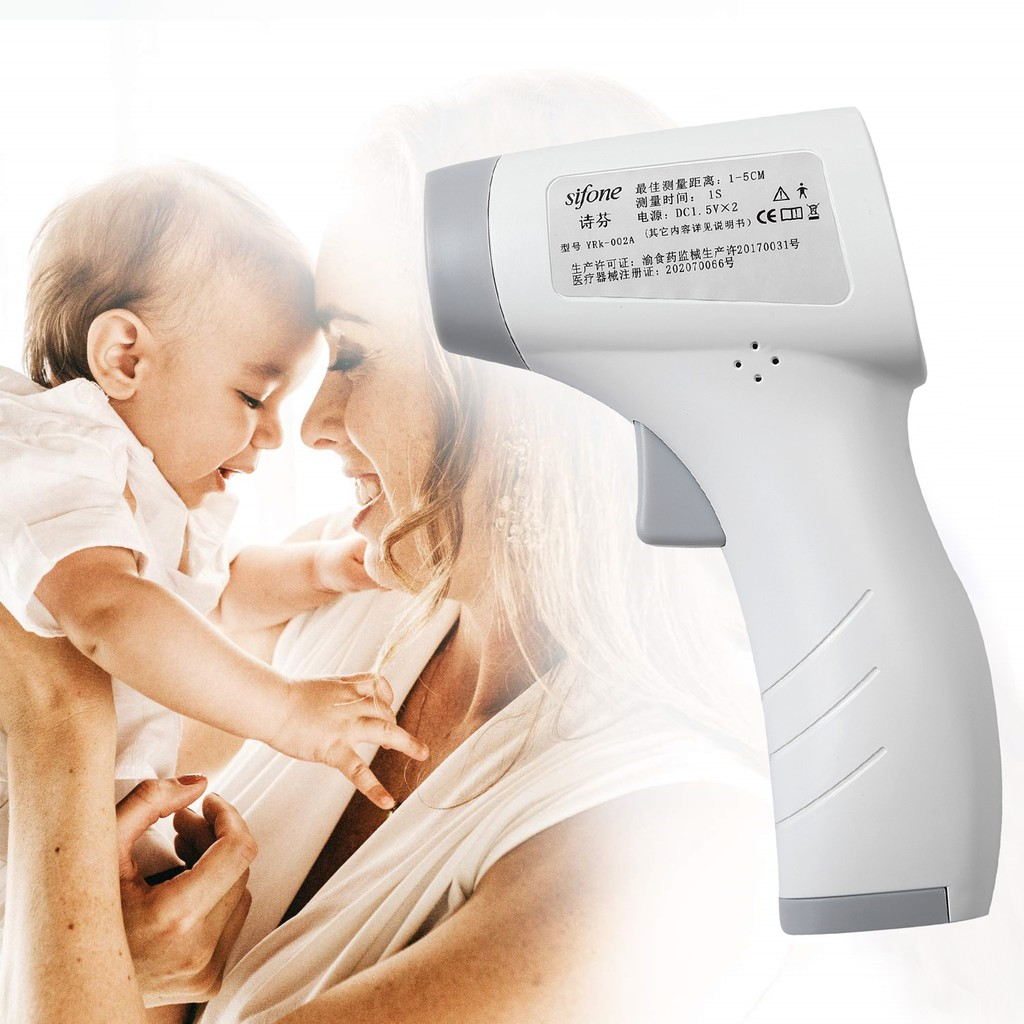 Non-Contact Infrared Forehead Thermometer for Baby Adults | Shopee ...