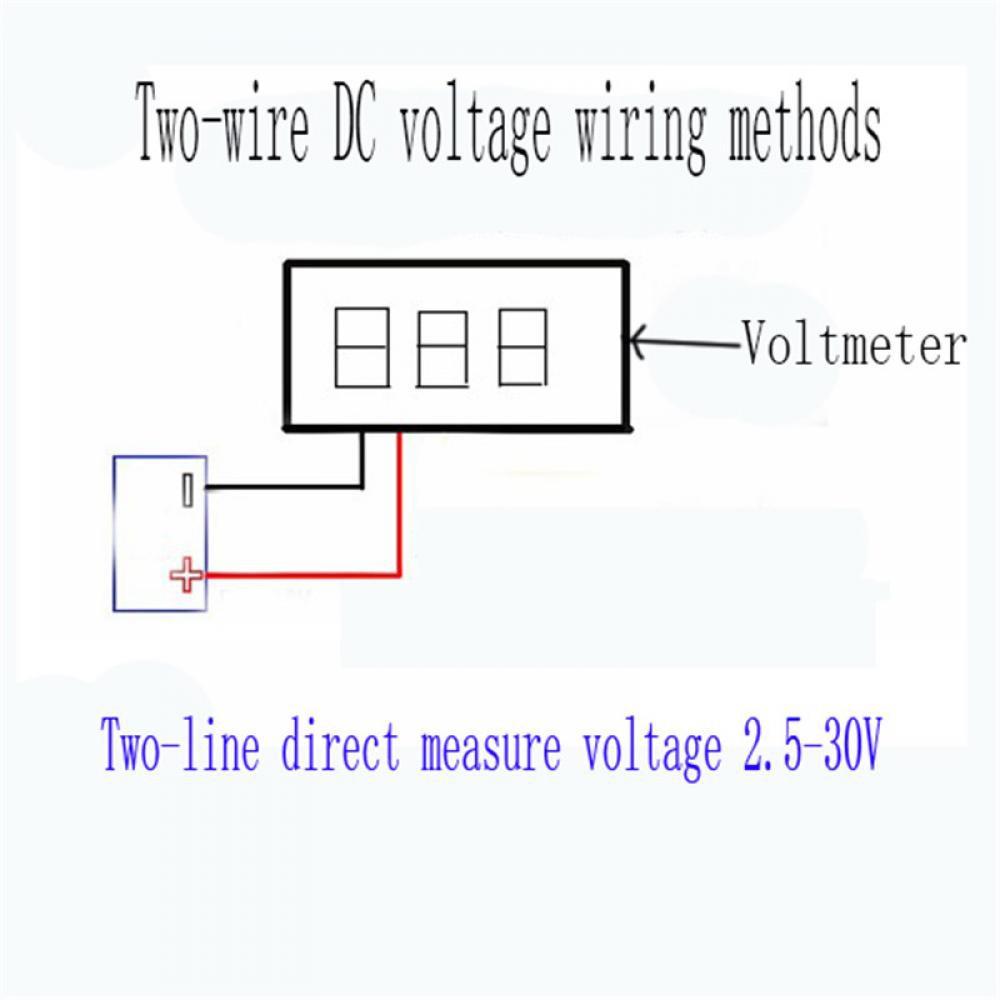Mini Red Mount Voltmeter Digital Panel Meter Volt DC LED Dc Voltage Meter Wiring Diagram on