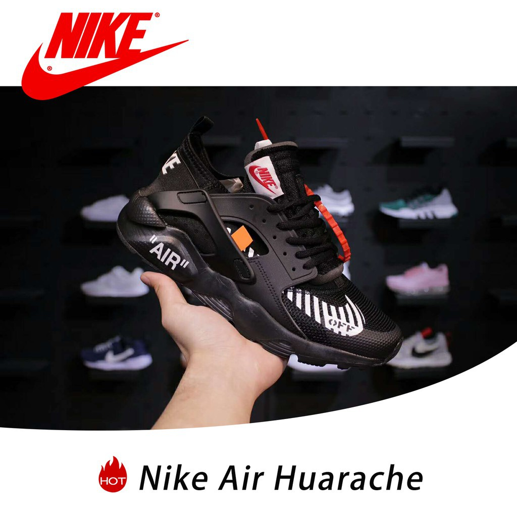 22b9f2f9b03 SLK ☆ Selling running shoes OFF-White x Nike Air Huarache black sneakers  size 36-45