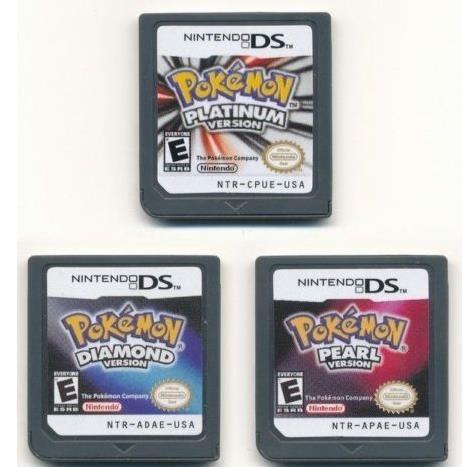 Nintendo 3DS NDSi NDS Lite Game Card Pokemon Platinum+Pearl