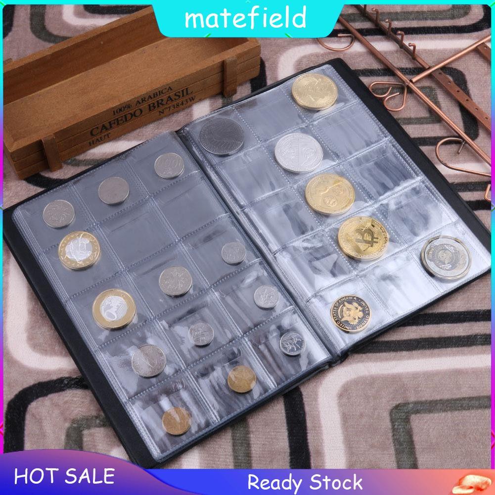 Black 240 Pockets Coin Album Collection Book Storage Money Holder Collector