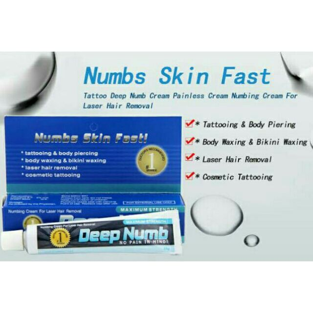 10g Tattoo Fast Numbing Cream Body Anesthetic Numb Permanent ...