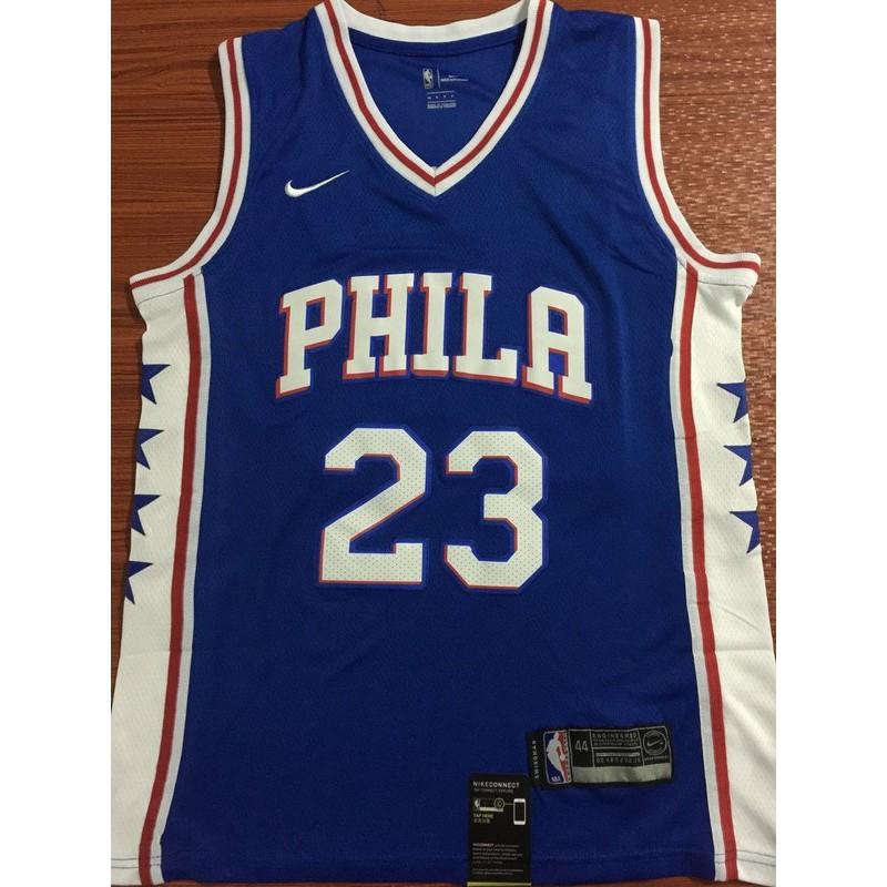 sale retailer e9dbe 5e96e yanbo Nike Philadelphia 76ers Butler NBA Jersey #23 blue