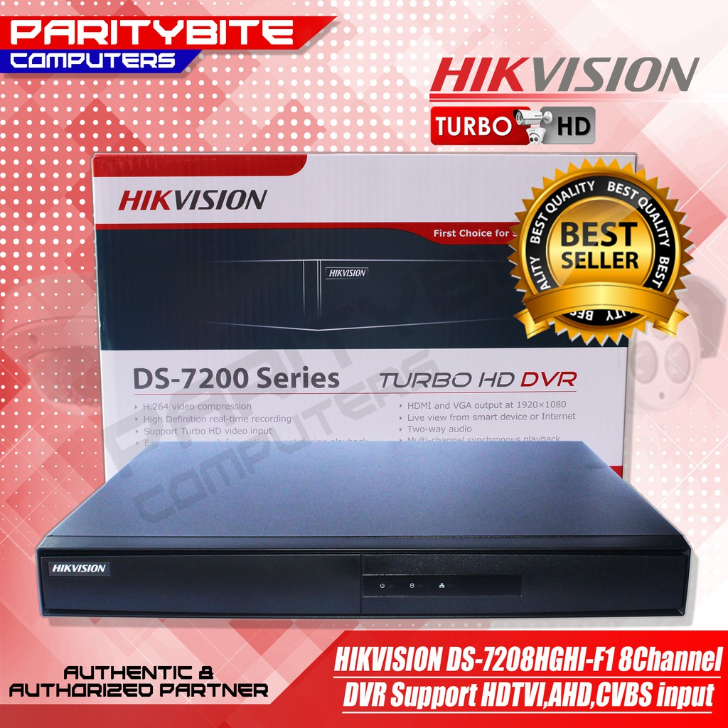 HIKVISION DS-7208HGHI-F1 8Channel DVR Support HDTVI,AHD,CVBS