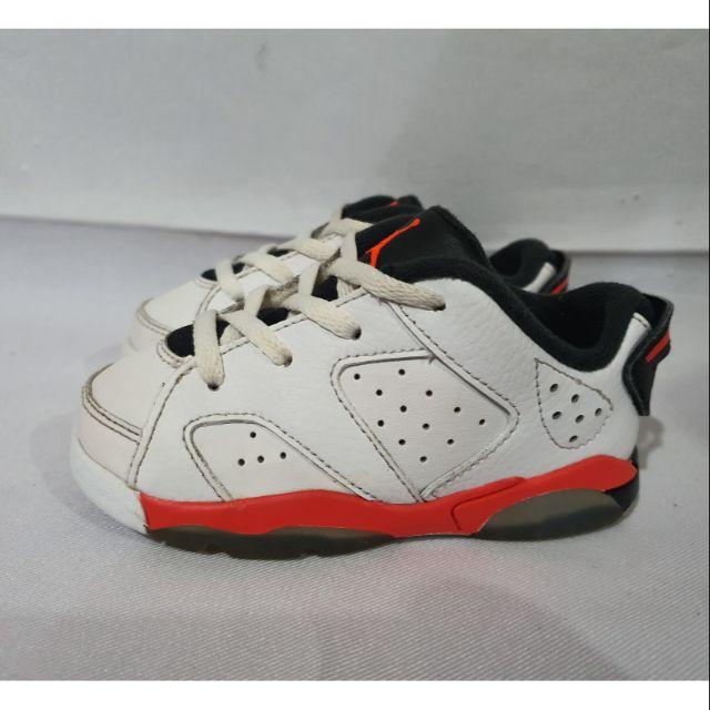 Nike Air Jordan Aj 6 Retro Low Bt Infants Sneakers Size Us 7c Uk