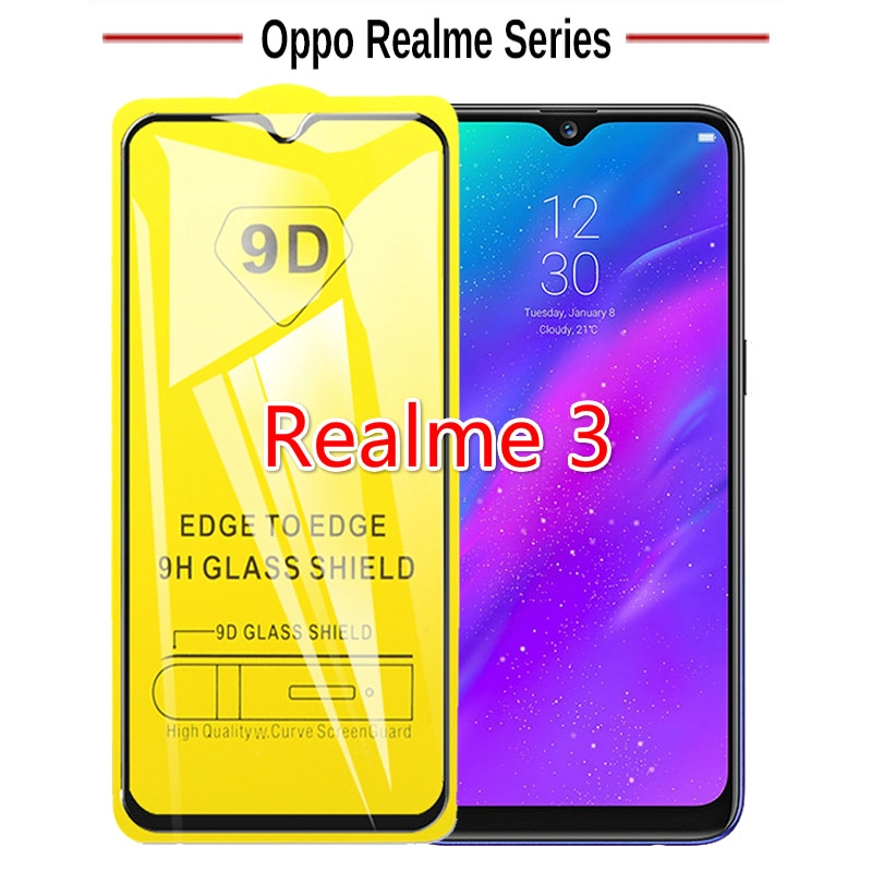 9D OPPO Realme 3 Tempered Glass Screen Protector Film