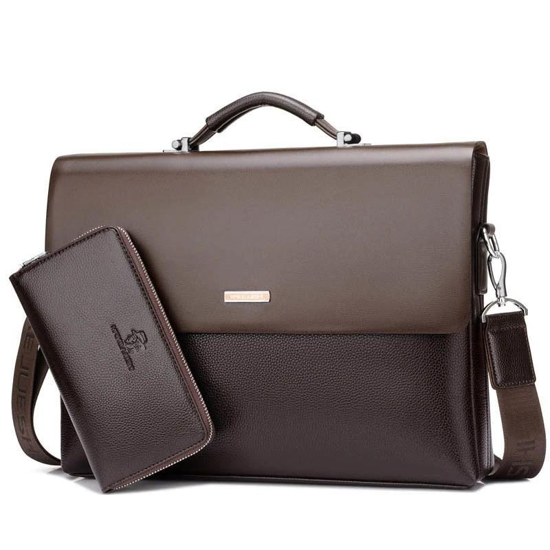 Brand Business Men Briefcase Pu Leather