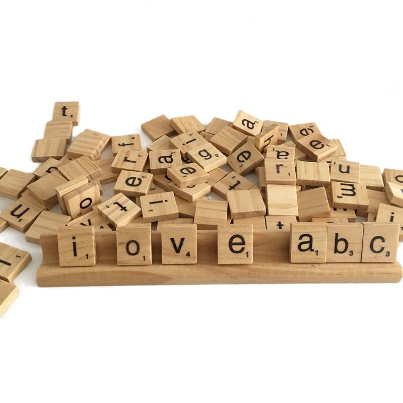 WOODEN CRAFTING LETTER TILES MATCH ONLY BUY ONLY WHAT YOU NEED ! MIX