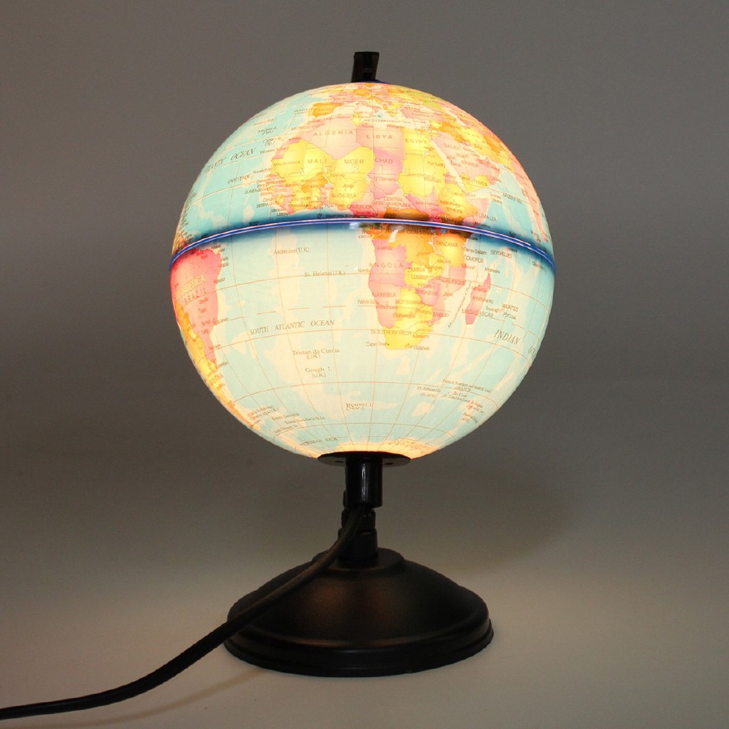 Earth Globe Led Night Light Lamp Decor