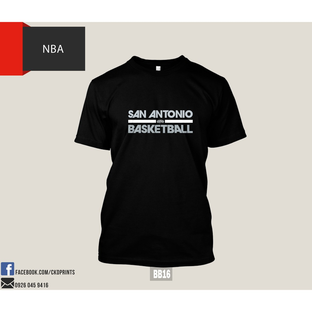 huge selection of 26d0e 626f3 NBA San Antonio Spurs T-Shirt Design Print