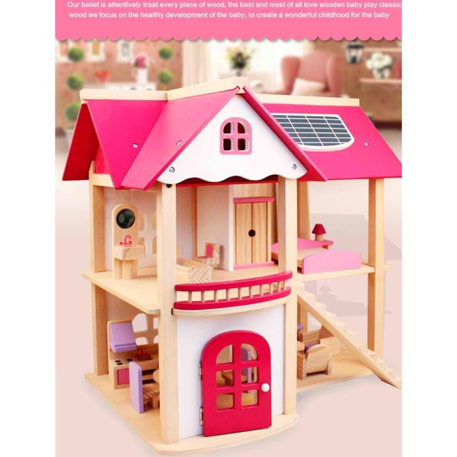 Onshine 3 Floors Wooden Doll House Shopee Philippines