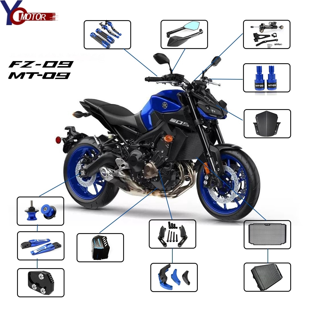 Color : A Best For YAMAHA MT-09 FZ-09 MT 09 MT09 FZ09 Motorcycle Accessories Steering Damper With Bracket 2013 2014 2015 2016 2017 motorcycle
