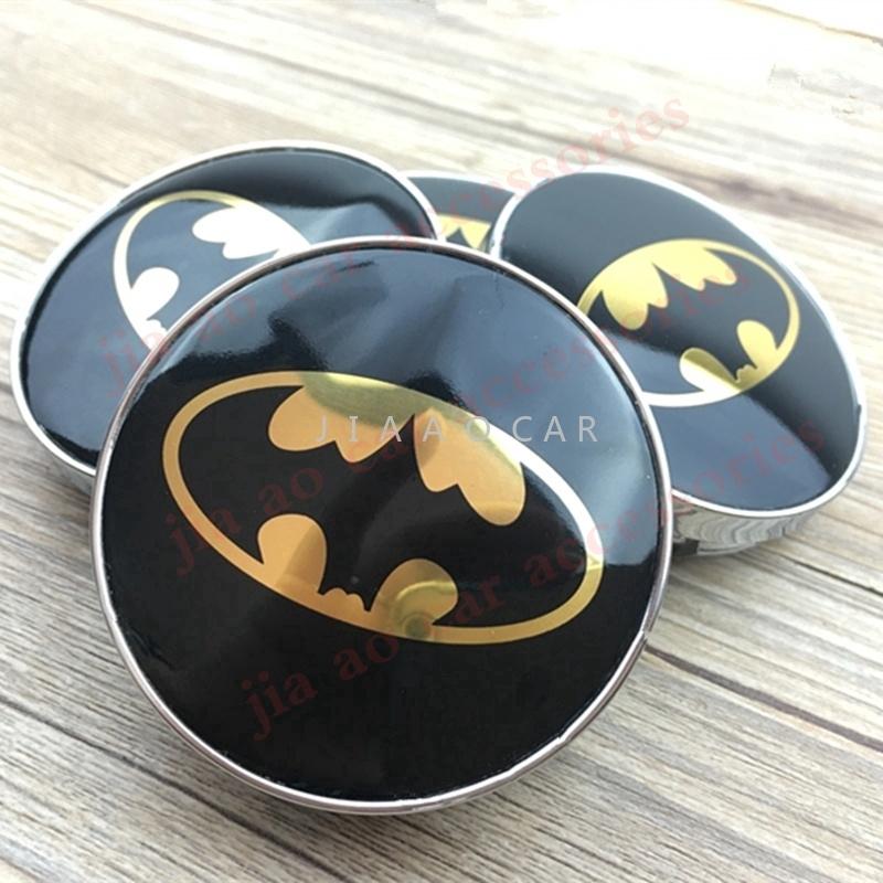 4pcs 60mm Batman blue logo car emblem Wheel Center Hub Cap Rim badge decoration