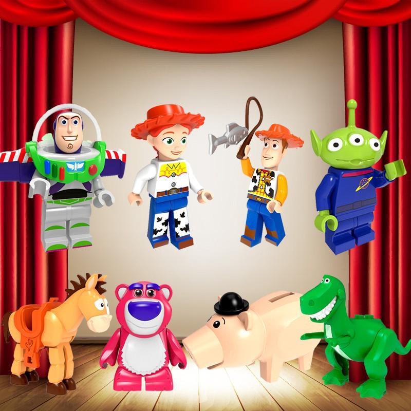Toy Story Woody Buzz Lightyear Jessie Lotso Rex Hamm Use With Lego Mini Figures