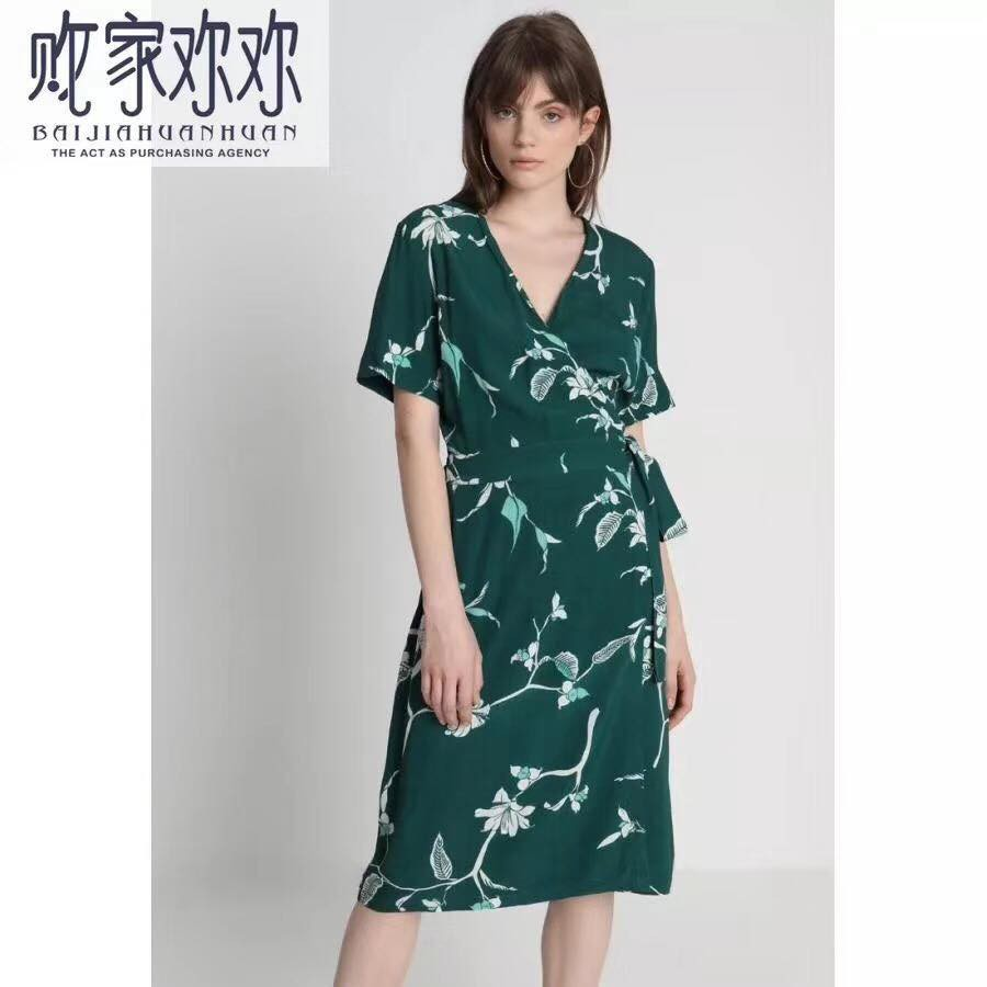 Floral Overlapped Casual Dress | Shopee Philippines