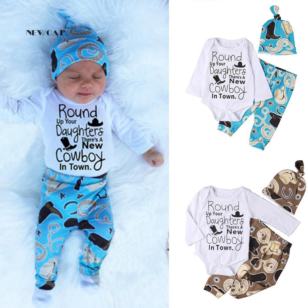 Baby Bear Newborn Boys Child Kid Jumpsuit Romper Crawling suit Pants Hat Outfits