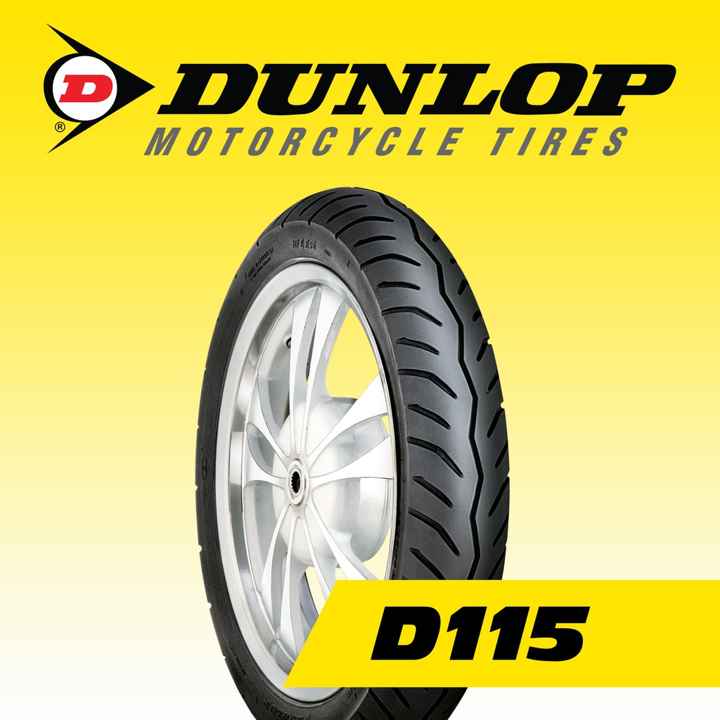 Dunlop D115 80/90-14 40P Tubeless Motorcycle Tires