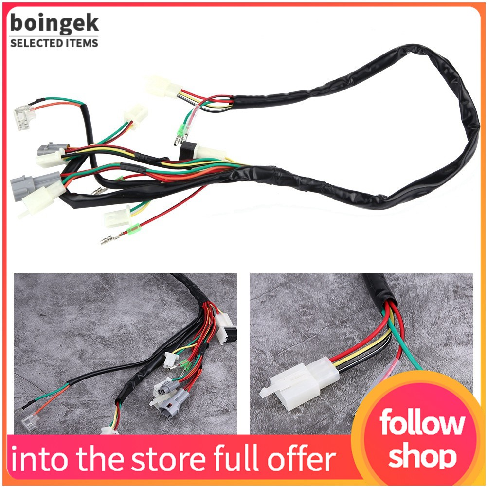 Motorcycle Replacement Wire Wiring Harness Assembly for PW50 Wiring Harness