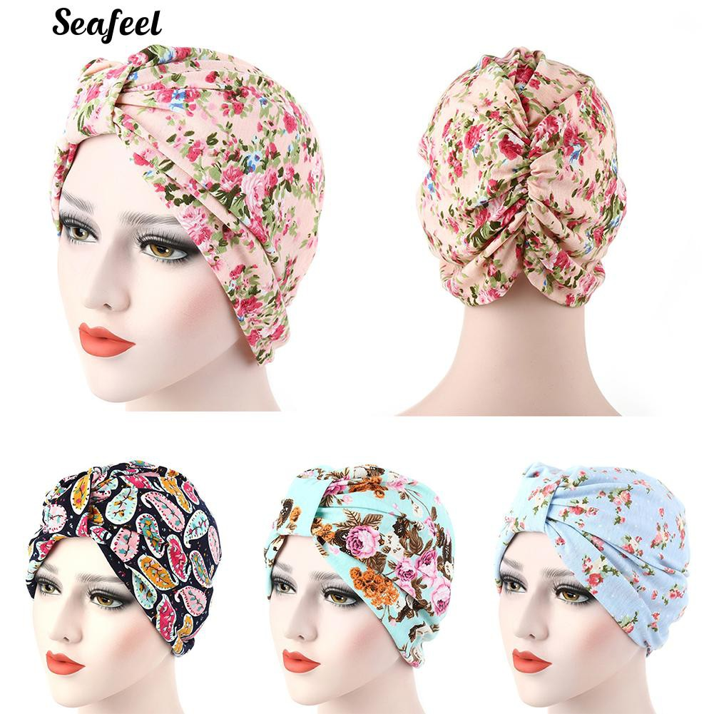 8f4a8cde3 Muslim Stretch Turban Hat Cancer Chemo Cap Hair Loss Head Scarf Cover
