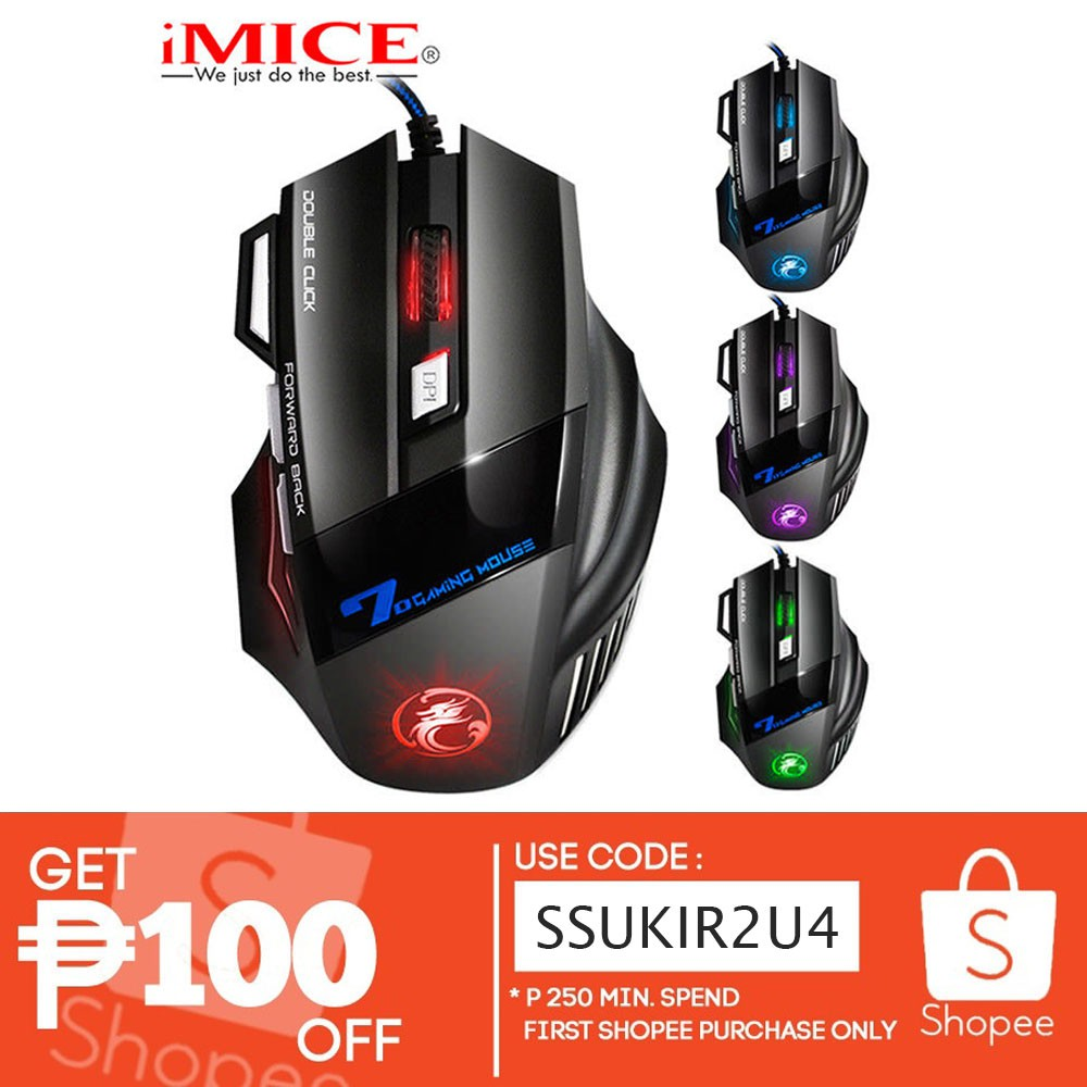 7922ea012b4 iMice X7 Optical Game Colorful Light 7 Button Gaming Mouse | Shopee  Philippines