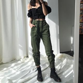 quality first selected material fair price Women High Street Pants Loose Joggers Camo Pants Streetwear Punk Black  Cargo Pants Trousers