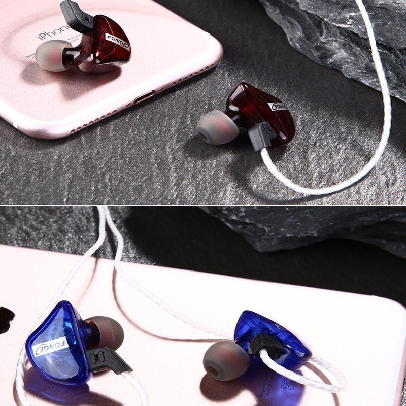 FONGE T01 Waterproof Bass Earphones Ear Monitors HiFi DJ With Mic BASS  Compatible with 3 5mm