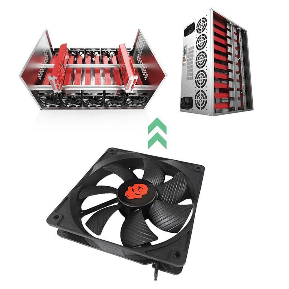 12cm 12V Mining Case PC Computer Cooling Fan High Speed Dual Ball Bearing Cooler