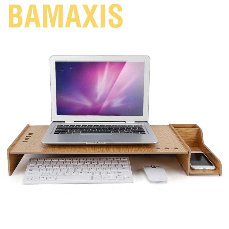 Monitor Riser Desk Storage Box Wooden