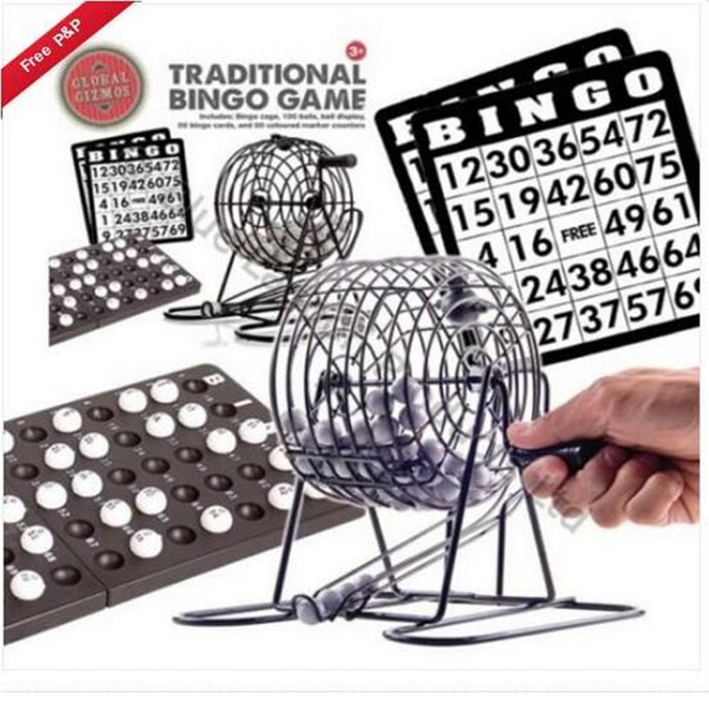 Bingo Cage Size 3 Machine Traditional Family Game All Occasions Venues Lottery