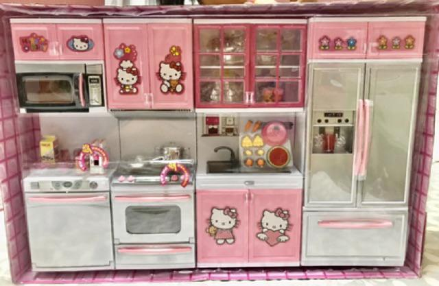 hello kitty 4in1 kitchen toy setbig size  shopee