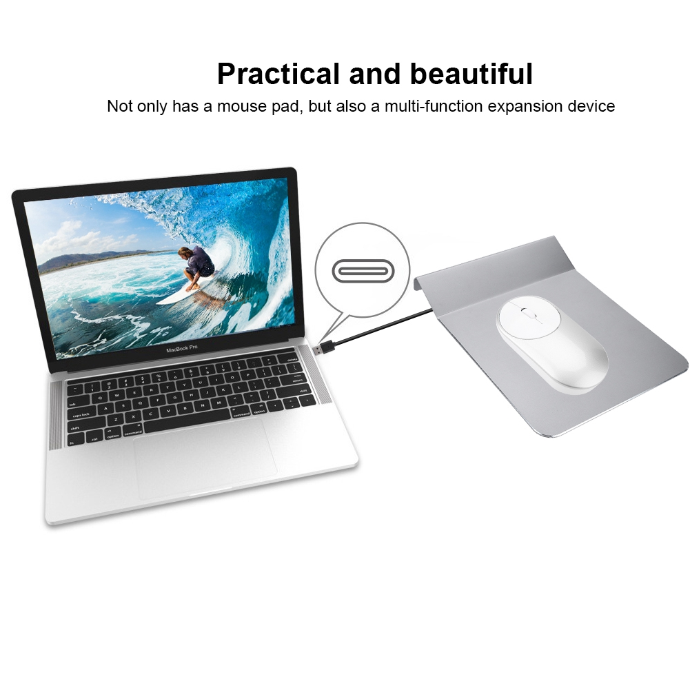 300x240mm Aluminum Alloy Mousepad Game Metal Super Smooth Mouse Pad Black