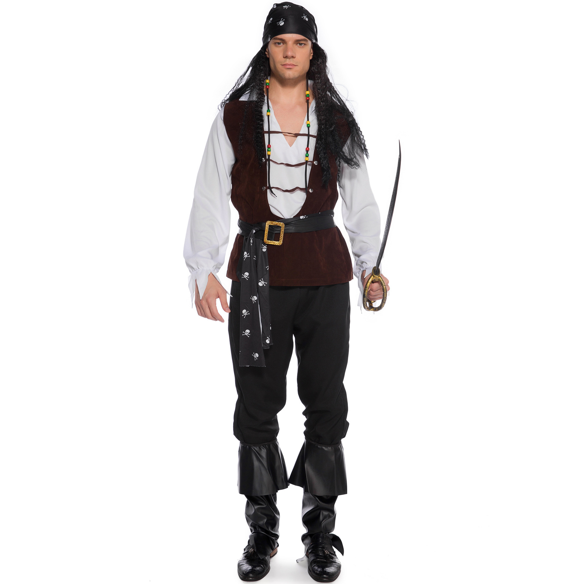 Readystock Men Pirate Costume Cosplay Shopee Philippines