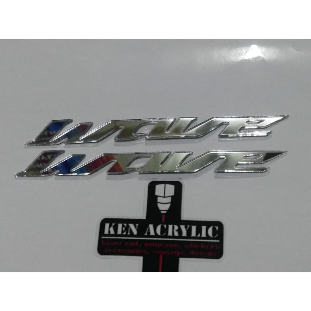 Honda Wave Acrylic Emblem(2pcs/pair) | Shopee Philippines