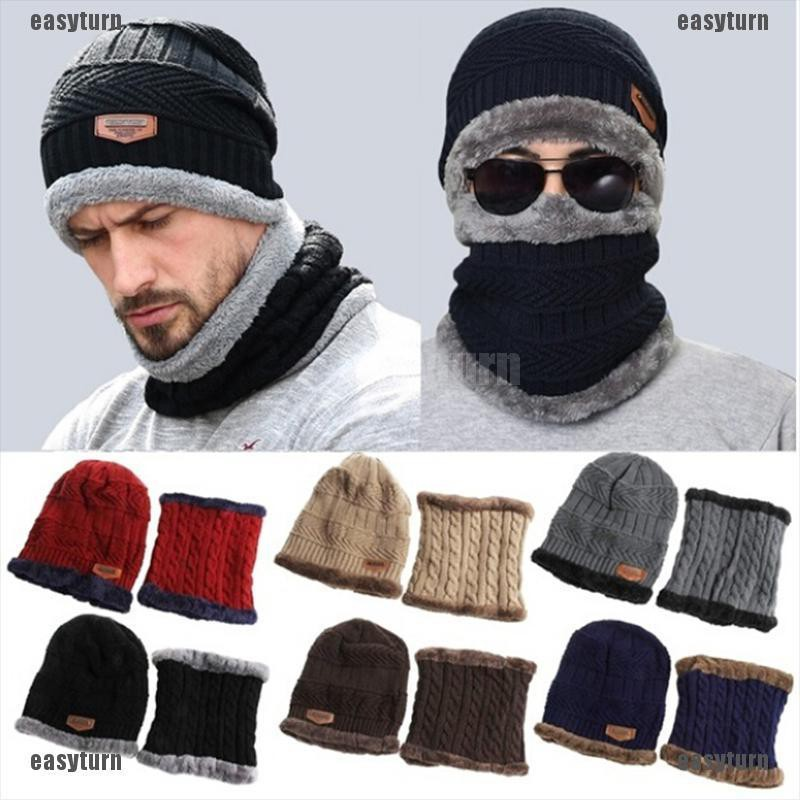 1PC Fashion Men Women Winter Faux Woolen Knitted Hats Warm Outdoor Melon Cap New