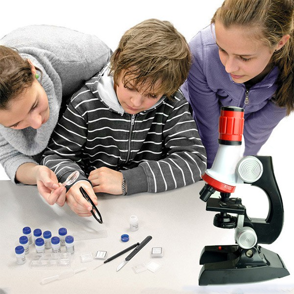 Sexylife Microscope Kit Science Lab LED 100X-1200X Home School Educational  Toy For Kids
