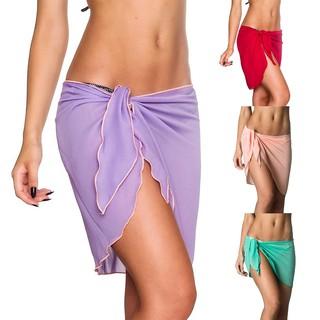 d153ffce69 Women Sexy Bikini Skirt Cover Up Beach Dress Sling Bottoms Swimwear Sarong  Wrap | Shopee Philippines