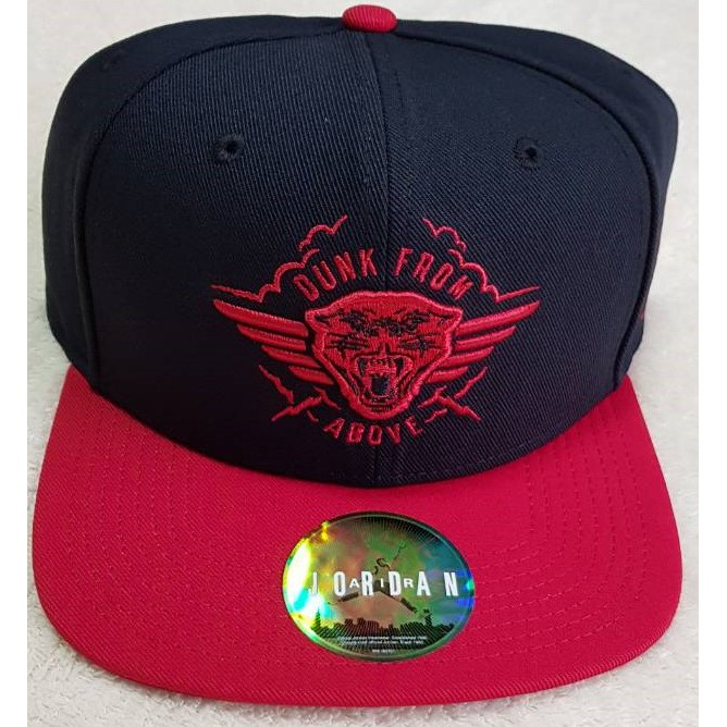 16ee6aff AUTH Jordan Dunk From Above Snapback Cap 724897 Red Black