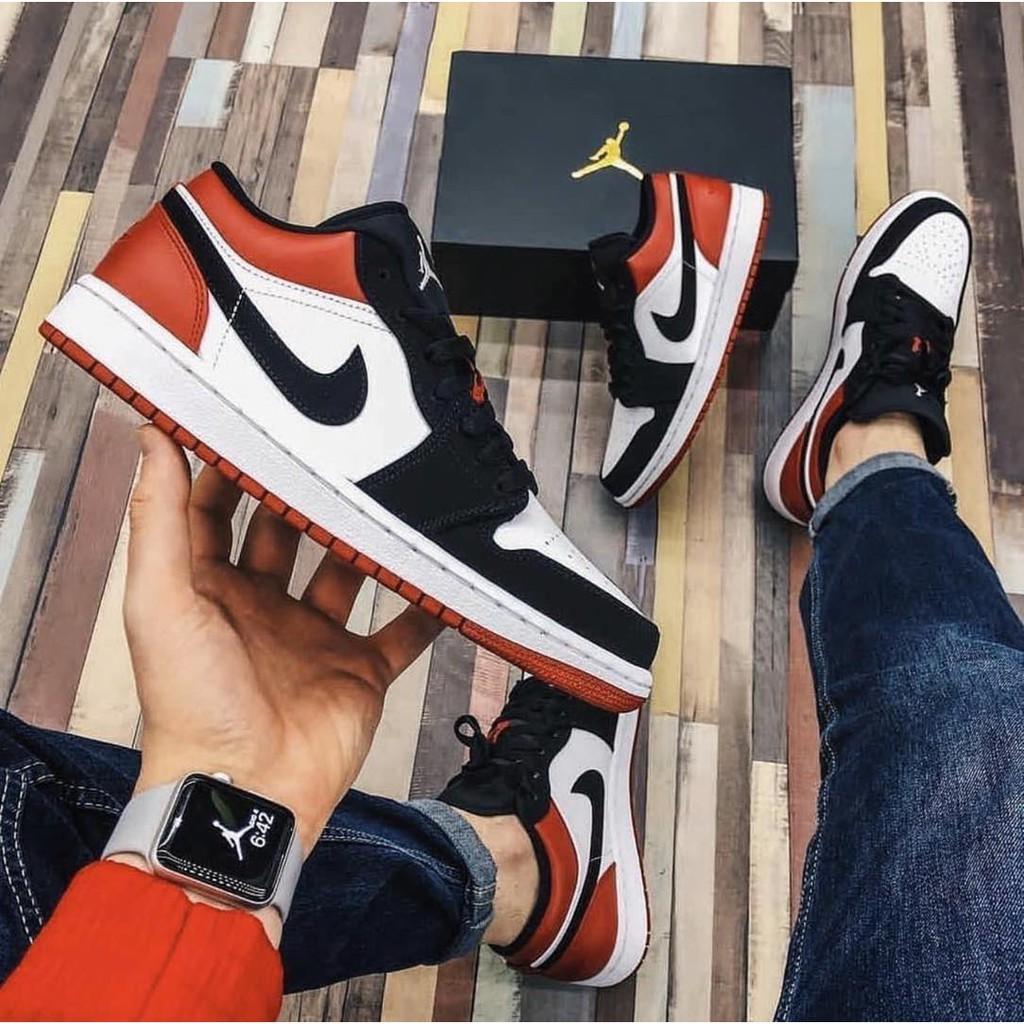 "Alrededores Restringir promesa  Nike Air Jordan 1 Low ""Black Toe"" Sneakers Couple Shoes for Men and Women  Unisex OEM COD | Shopee Philippines"