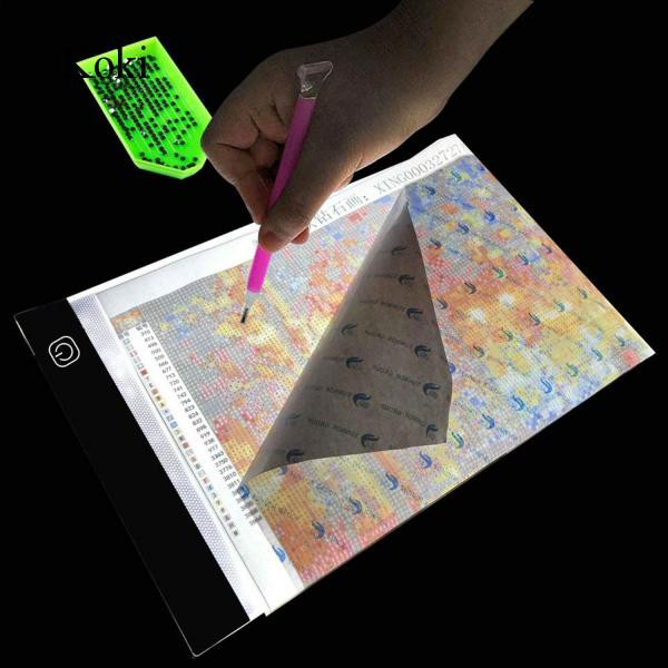 LAMPTOP Dimmable Light Box Diamond Painting Kit Including A4 LED Light Pad Board 30pcs Diamond Painting Tools and 28-Slot Box for Rhinestone Embroidery,Crystal Cross Stitch,Drawing,Sketching,Tracing