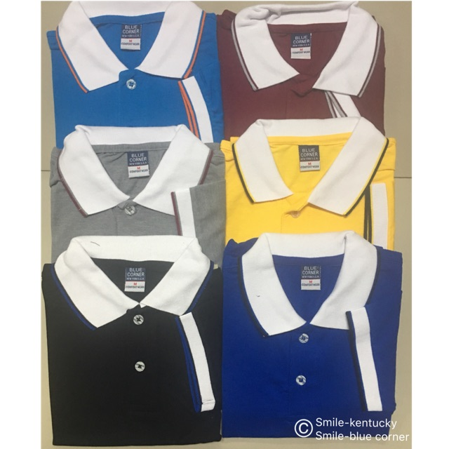Blue Corner Men S Polo Shirt Style 9 With Lining